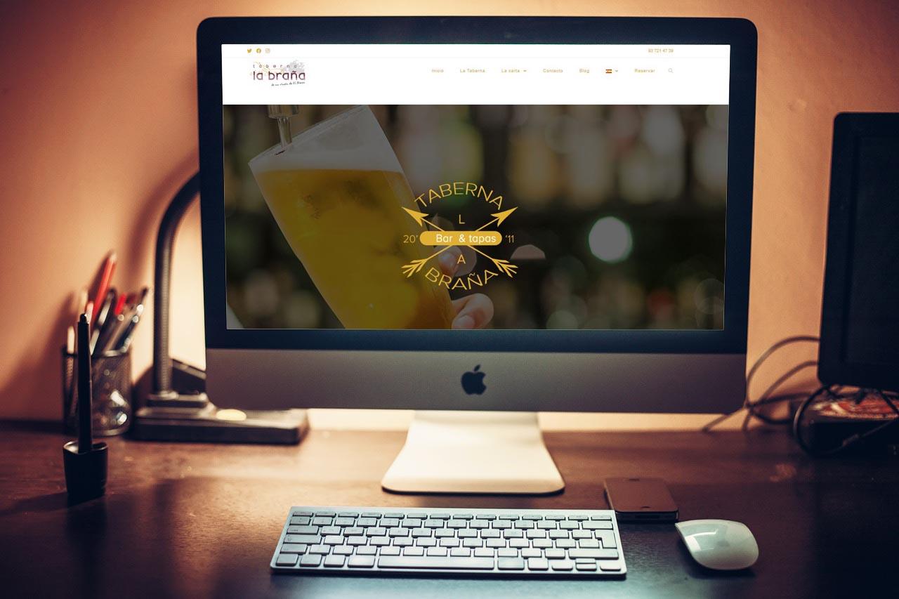 Trabajos web Factoria Destako - Taberna La Braña